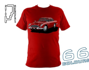 Aston Martin DB5 PERSONALISED T-Shirts by AutoRenders - 66 Colours - S/M/L/XL/2XL/3XL* - Unisex - Shirt & Car Colour Match!