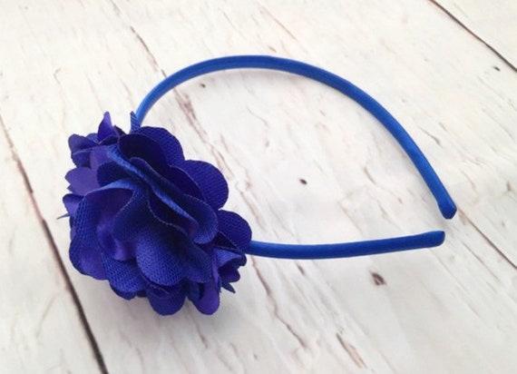 Royal Blue Flower Headband - Flower Girl Headband - Navy Blue Flower  Headband - Flower Headband for Girls - Wedding Hair Accessories 9e0a87dc9aa