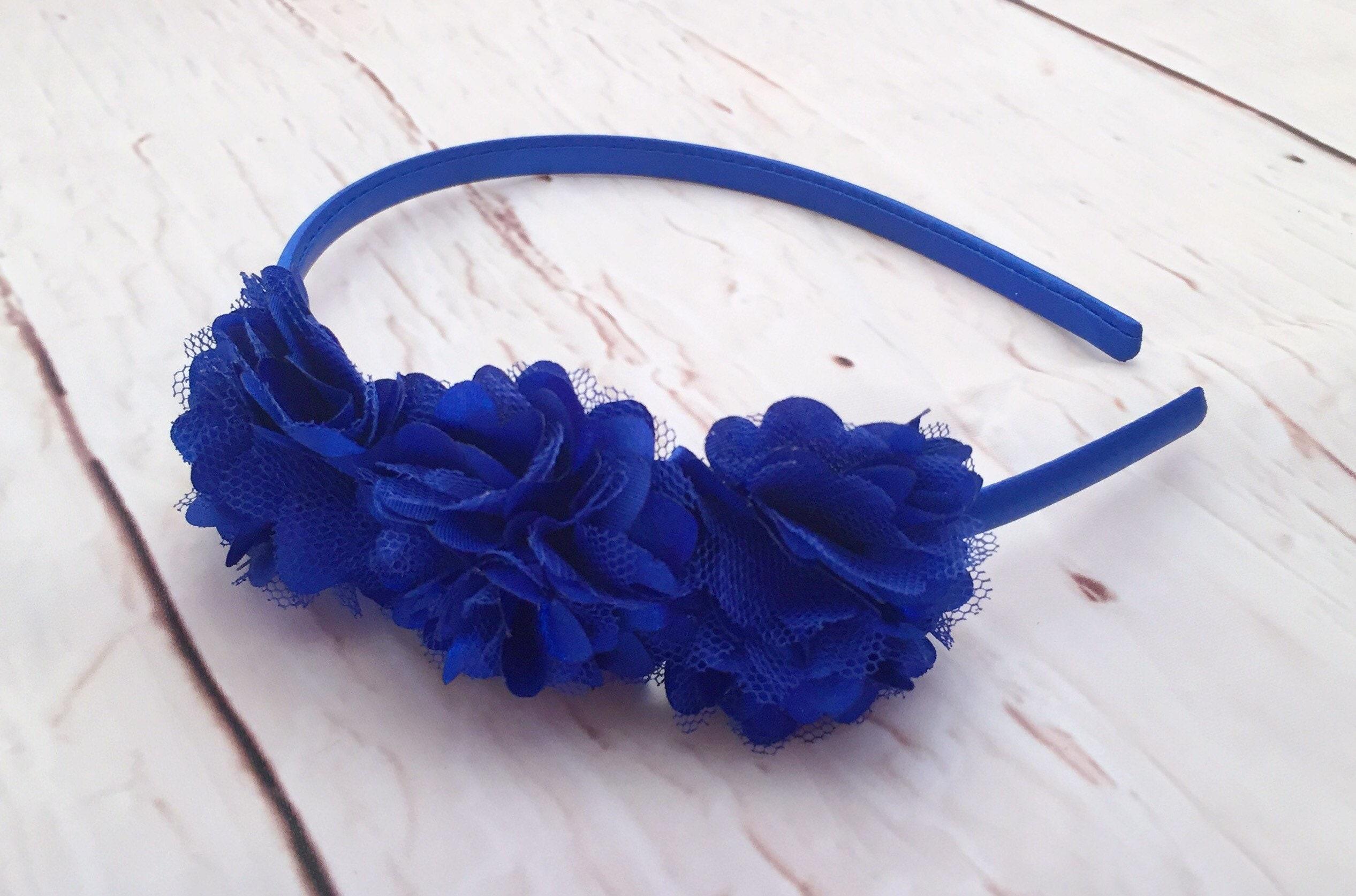 Royal Blue Headband Royal Blue Flower Flower Girl Headband  eacbb86e21f