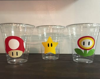 25 Super Mario Brothers Party Cups-12 oz