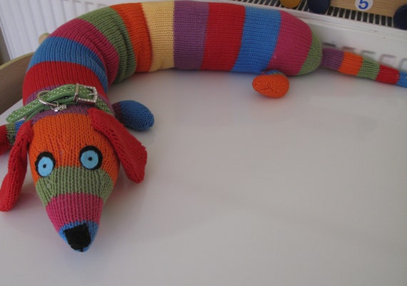 Knitting Pattern • Crocodile Draught Excluder or soft toy