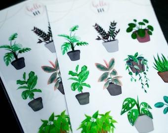 Clear Plant Stickers | Garden Stickers | Planner Stickers | Bullet Journal | Scrapbooking