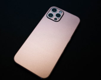 iPhone 12 Pro Rose Gold Vinyl Skin | iPhone 12 | Apple | Vinyl Decal