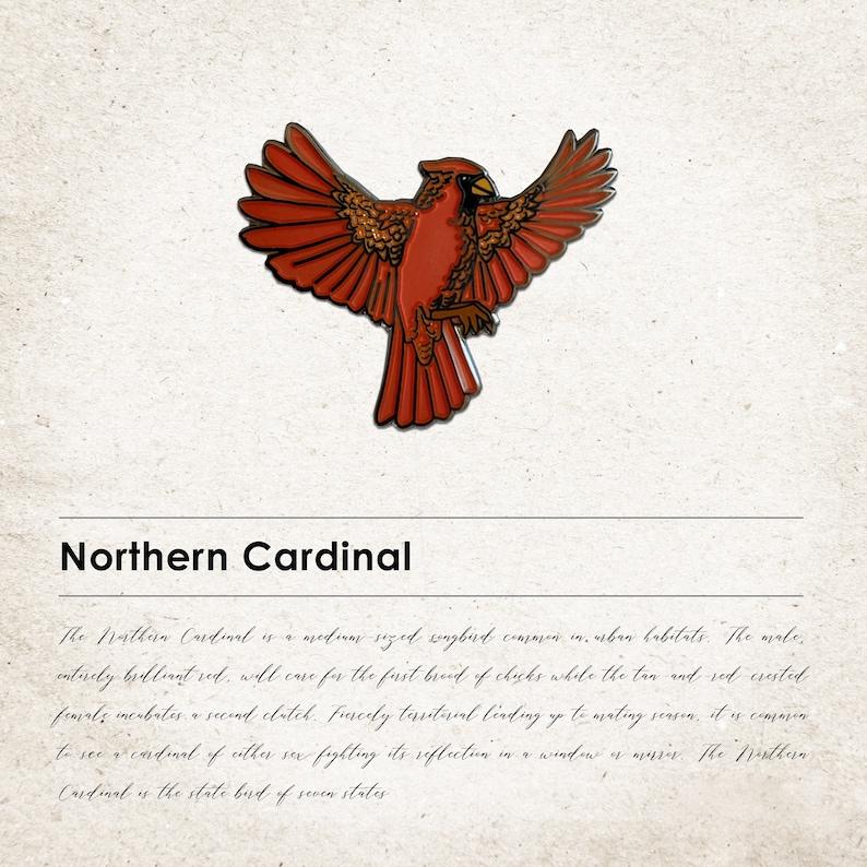 Northern Cardinal Spirit Animal Pin image 0