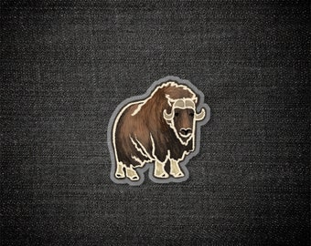 Muscox Spirit Animal - Pin, Acrylic Pin, Illustration