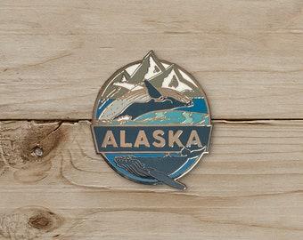 Whales, Alaska Pin / Pin Collection / Lapel Pin Collecting