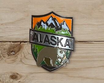 Bear, Alaska Walking Stick Medallion / WSM Collection / Walking Stick Medallion Collecting