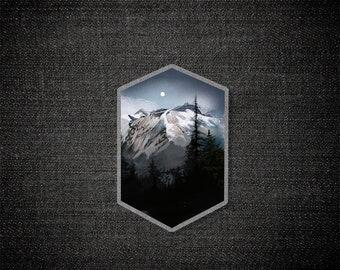 Dust Mountain - Pin / Acrylic Pin / Mixed Media / North Cascades National Park