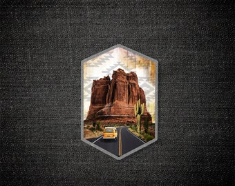 Desertion - Pin, Acrylic Pin, Mixed Media