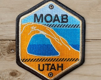 Corona Arch Embroidered  - Iron on Patch, Canvas, Utah, Moab