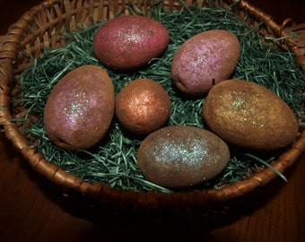 Primitive  Easter Eggs (6), bowl fillers, ornies, crafts and more