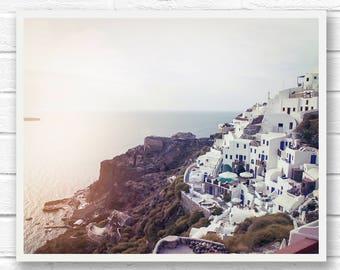 Greece photography, Santorini Greece, travel photography, Greece prints, Greek decor, Mediterranean, landscape print, Oia, Greek islands