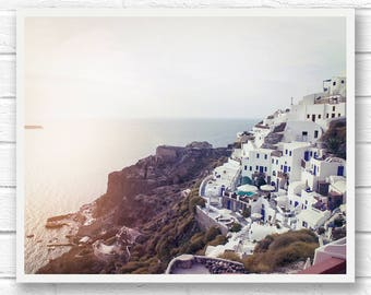 Santorini Greece wall art prints, travel photography, printable photograph Greece print, Greece photography digital download landscape photo
