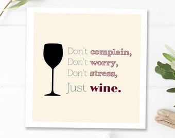 Wine Quotes Wine Art Print Gifts For Wine Lovers Funny Wall Etsy