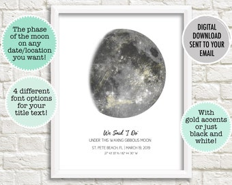 To the moon   Etsy