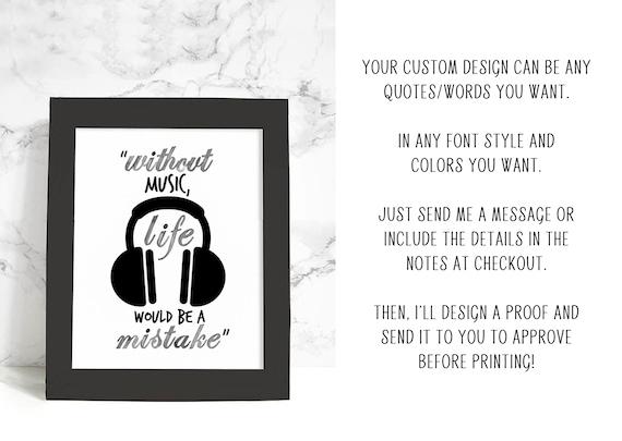 Personalized framed quote framed wall art custom design art   Etsy