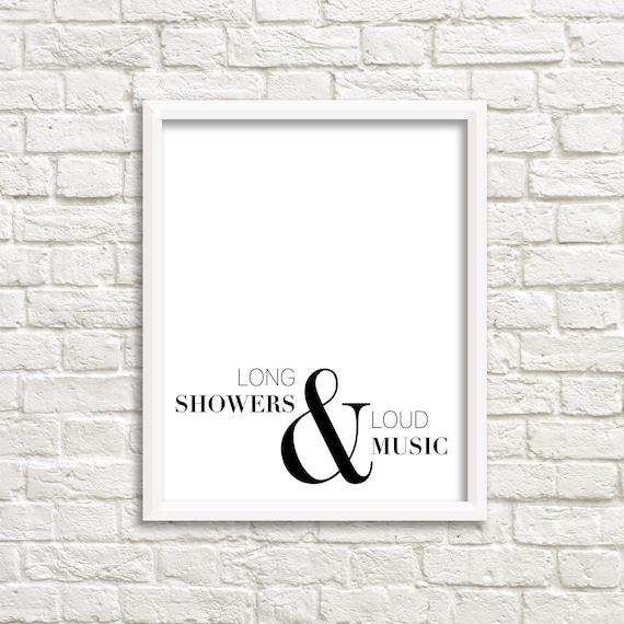 Bathroom wall art black white printable minimalist bathroom | Etsy