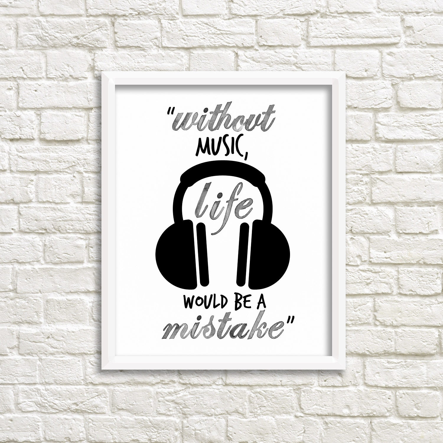 Digital Download Quote Famous Quotes Without Music Quote Etsy