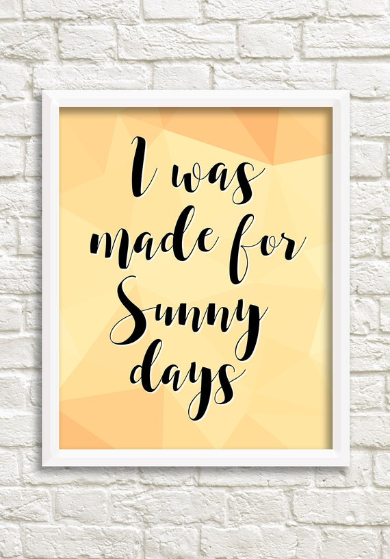 Yellow wall art quotes, inspirational word art, yellow quote print happy  art, yellow geometric print, positive quote art made for sunny days