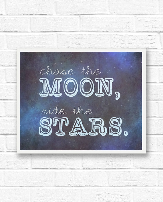 Star Quotes Moon Wall Art Star Printable Quotes Digital Etsy Gorgeous Star Quotes