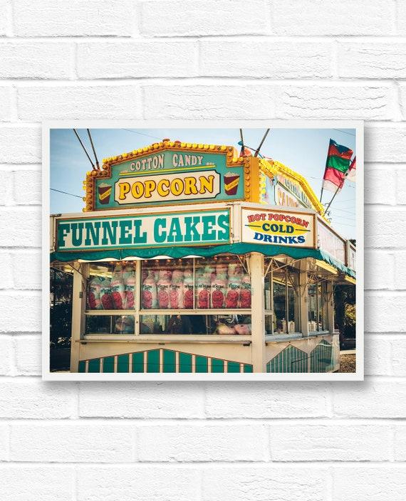 Carnival printables popcorn wall art vintage photography   Etsy