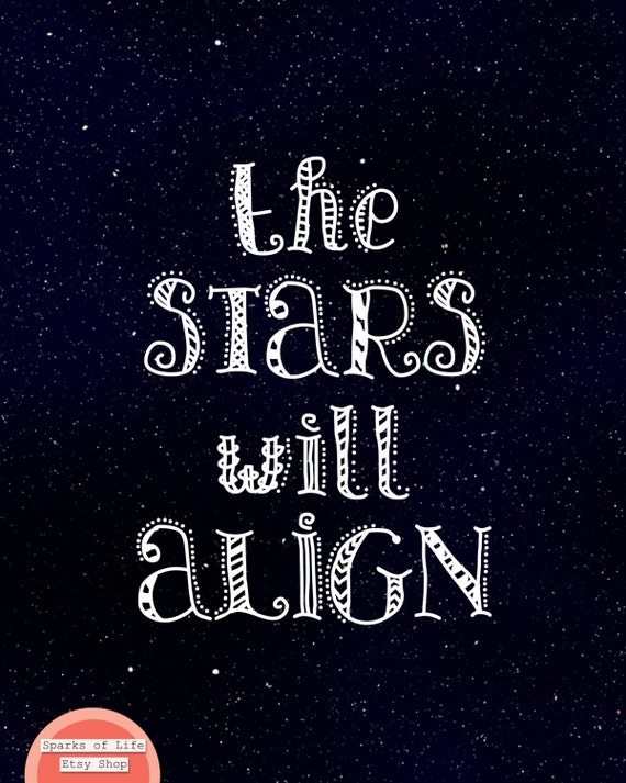 Black And White Quotes Star Quotes Inspirational Quote Etsy