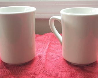 Syracuse China Coffee Mugs - Set of 2