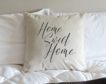 Home Sweet Home Pillow - Home Sweet Home - Pillow Cover - Housewarming gift - New Home gift - House Warming Gift - Rustic Pillow Cover