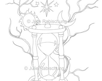 coloring book ~ Sun Andn Coloring Pages Celestial Page Star ... | 270x340