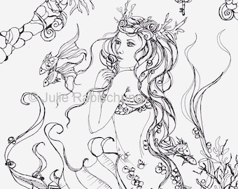 Wonderland Coloring Page Colouring Page Coloringbook Adult Etsy