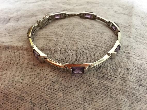 Amathyst Tennis Bracelet
