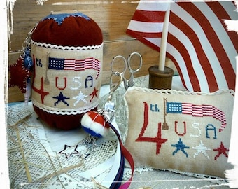 patriotic pincushion kit