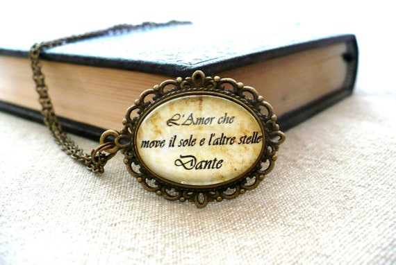 Silver Inspirational Book Lover Poetry Quote Pendant Unique Poem Jewellery Gift Idea for Her William Shakespeare Quote Necklace