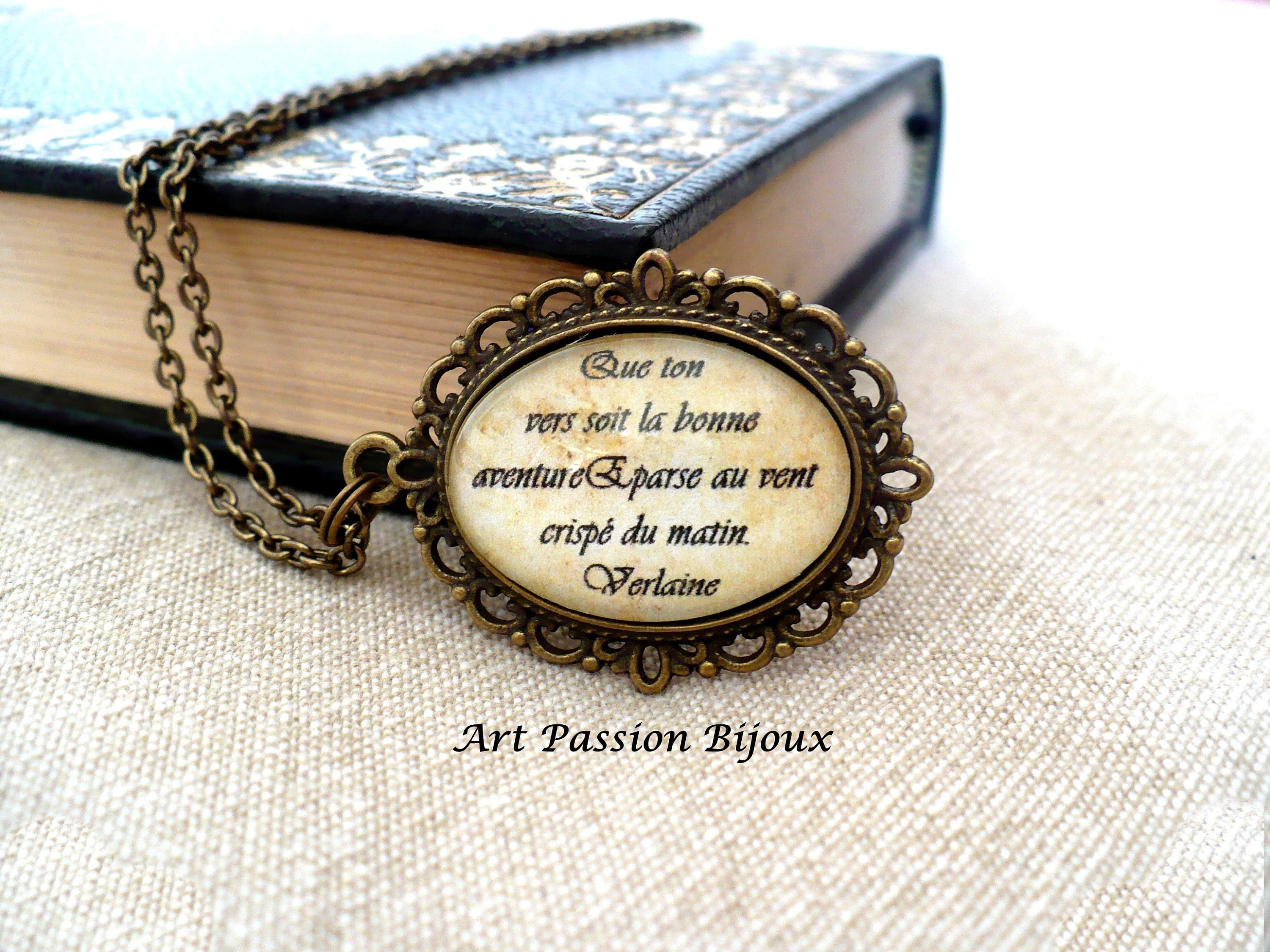 Unique Poetry Jewellery Gift Idea for Her William Shakespeare Quote Necklace Silver Inspirational Poem Love All Quote Pendant