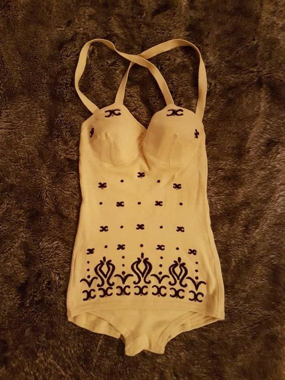 Fabulous 1950s Knitted Swimsuit- Viva Las Vegas- 1