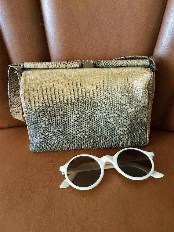 Adorable 1940s Snakeskin Handbag - Vintage Evening