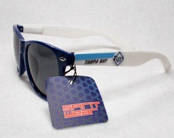179e056327a Tampa Bay Rays XL 3D Logos on Classic Sunglasses. Navy Wht Light Blue 3  tone! UV400 Protection