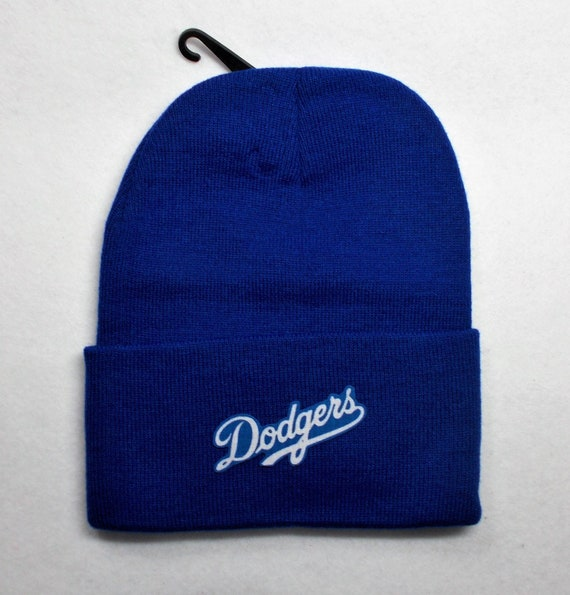 41cec750e Los Angeles Dodgers Heat Applied Applique, on a Knit Cuffed Beanie hat cap.  Royal Blue.! Unisex! Good quality! Adult One size fits all