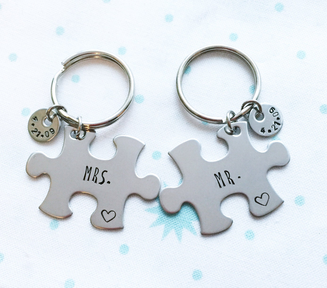 Mr Mrs Custom Date Keychains Anniversary Gift Wedding Etsy