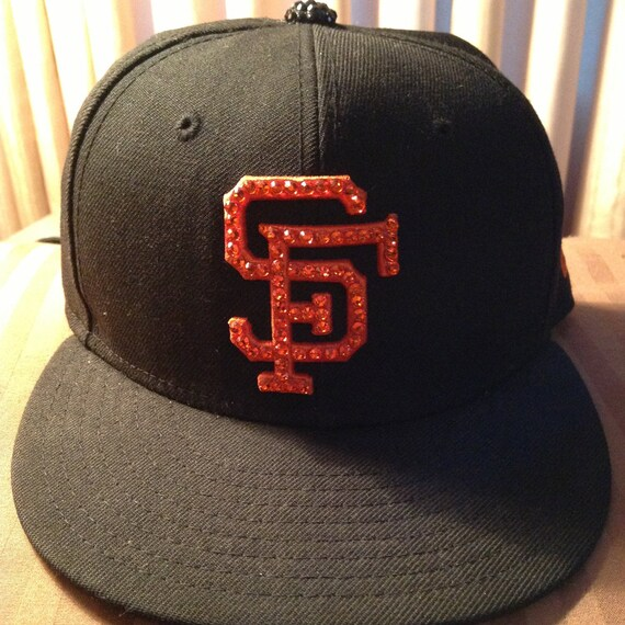 Logo Only Adult Blinged Out Hat ANY TEAM  0aafa8a9748