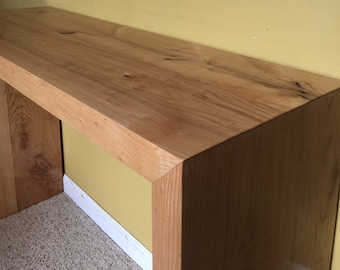 Waterfall table console or sofa table