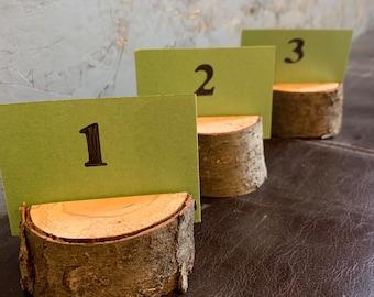 Custom: Forest cut wood card holders