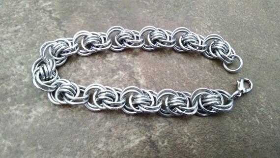 Cool Ocean Waves handmade chainmaille bracelet