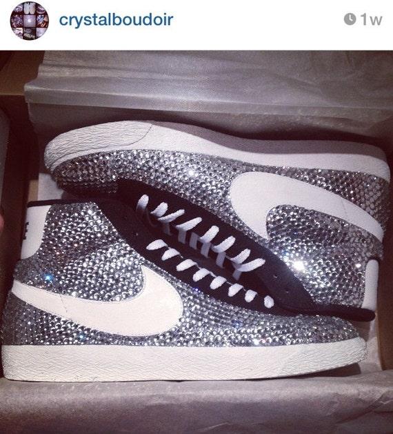 Custom Crystal Celebrity Nike Blazers Fully Strassed  6c422cd46