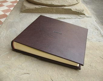 Leather photo album made in italy
