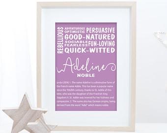Adeline name sign | Etsy