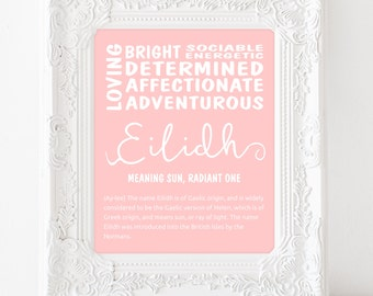 Name definition etsy personalised name meaning print name sign name meaning name definition new baby gift baby shower gift custom name print eilidh stopboris Images