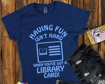 Library card graphic tee