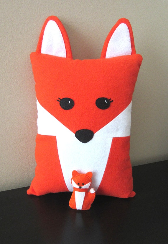 Items Similar To Fox Pillow Pattern With Felt Fox Pup Includes Raccoon PDF Tutorial Baby Felt