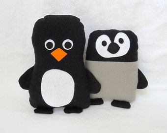 Penguin Pattern Softie Baby and Mommy Sewing Pattern as PDF Tutorial Winter Holiday Stuffed Animal Digital Penguins by My Funny Buddy